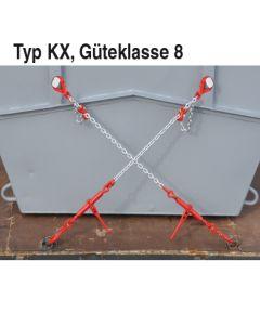 Kettenzurrung mit Verk.-haken für Mini mulden, Typ KX Gk 8