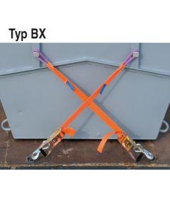 Minimulden-Verzurrung mit 50 mm Zurrgurt Typ BX