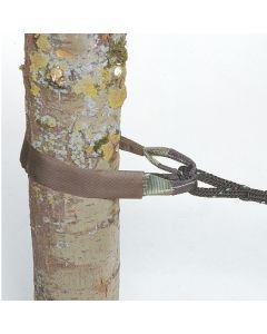 Schlaufenband mit Schutzschlauch für Baumkronen-Sicherung, 100 mm breit, Bruchkraft 120 KN (12 to)