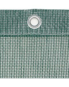 Luftdurchlässige Plane aus PVC-beschichtetem Gittergewebe 450 g/m² Farbe: grün