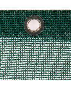 Luftdurchlässige Plane aus PVC-beschichtetem Gittergewebe 295 g/m² Farbe: grün