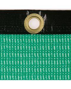Luftdurchlässige Plane aus P.-P.-Gewebe, 550 g/m² ohne Gummi-Spannleine  Farbe: grün