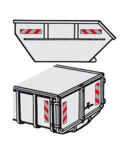 Scotchlite-Mulden- und Container-Warn markierung mit Magnetfolie