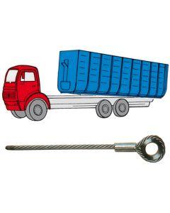 Container-Abrollkipper-Seile, blank, imprägniert