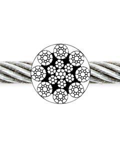 Drahtseil 8 x 19 Seale + 1 SE (IWRC) blank, ab Ø 8 mm jetzt EN 12385-4