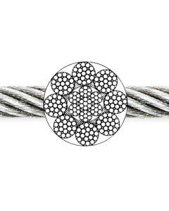 Drahtseil 8 x 19 Filler + 1 SE (IWRC) blank, ab Ø 8 mm jetzt EN 12385-4