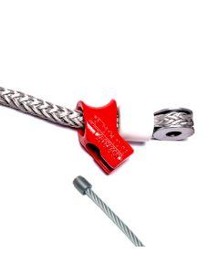 Grundausstattung mit Seilgleitöse,  Stopperbüchse und Rundkausche