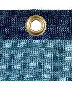Schweres luftdurchl. Kunststoffplane 320 g/m²  inkl. Gummi-Spannleine Ø 8 mm Farbe: blau