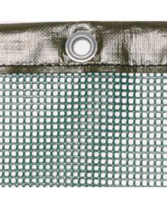Luftdurchlässige Plane aus PVC-beschichtetem Gittergewebe 580 g/m² Farbe: grün