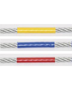 Drahtseile verzinkt PA 6-ummantelung gelb, blau und rot