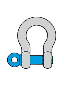 Schäkel HA 2, hochfest geschweifte Form, mit Schraubbolzen