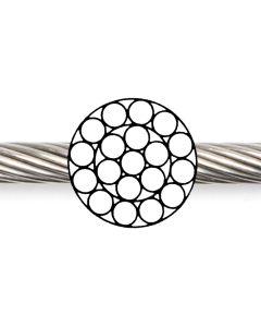 Spiralseil 1 x 19, verzinkt, als  Bowdenzugseil,  bisher DIN 3053