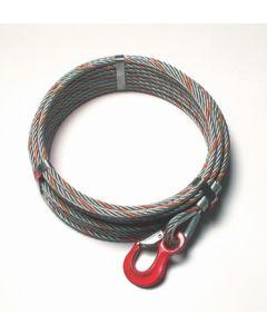 Seilzugseil mit Spitze und Haken         ohne Haspel, Typ HSZ 3,2 t Seil-Ø 16 mm